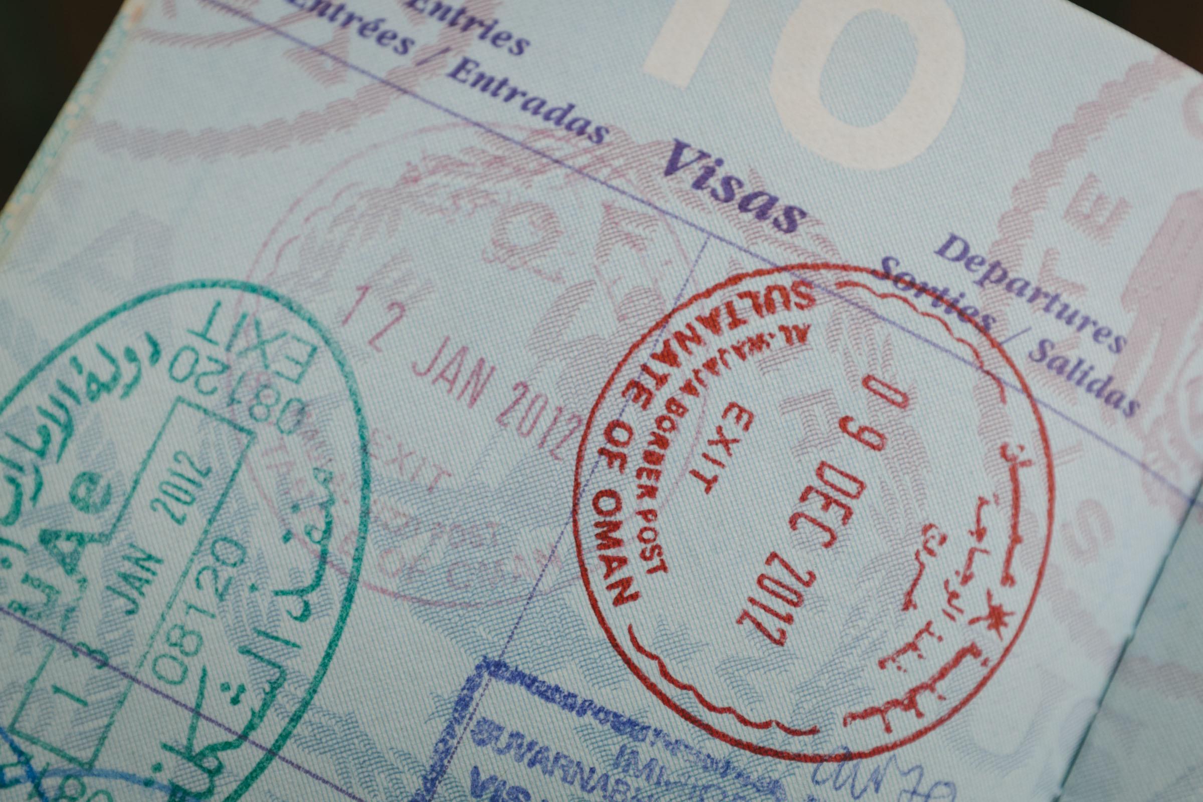 Фото визы в Оман