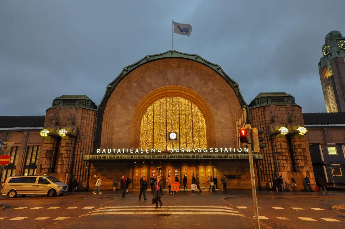 Фото Центрального вокзала Хельсинки