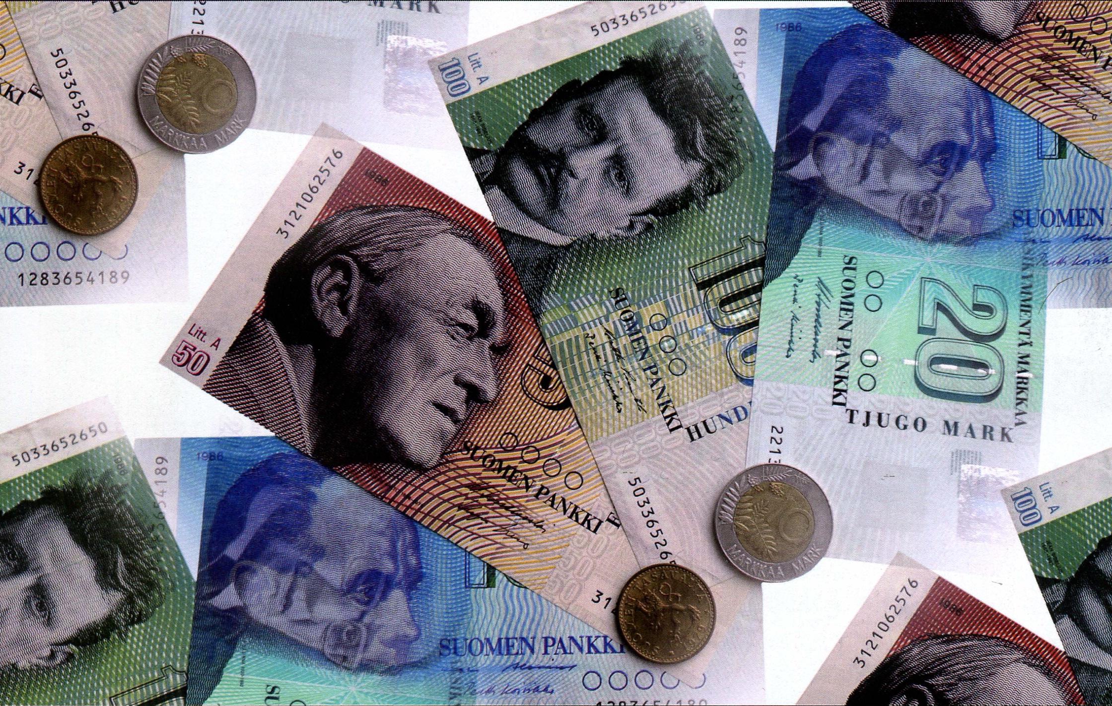 Фото валюты Финляндии