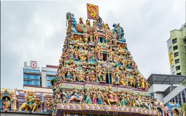 Необычный храм Шри