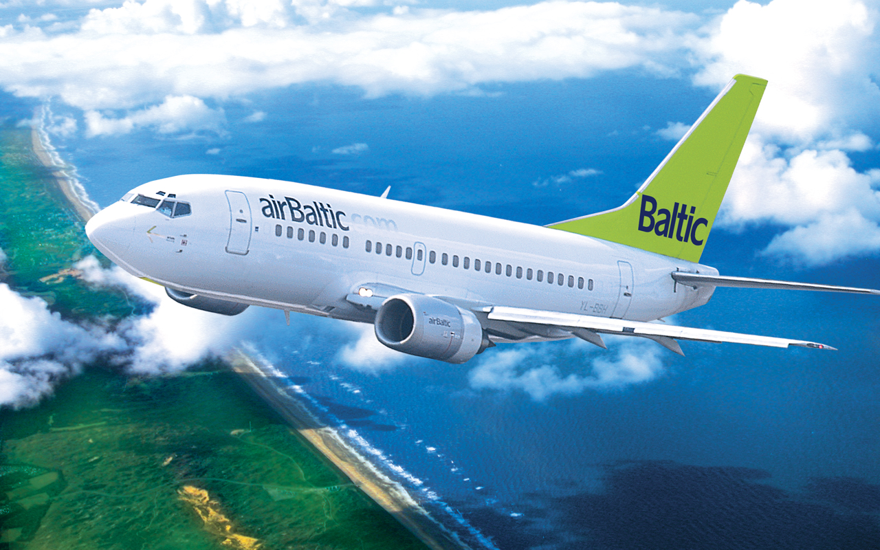 Самолет компании AirBaltic