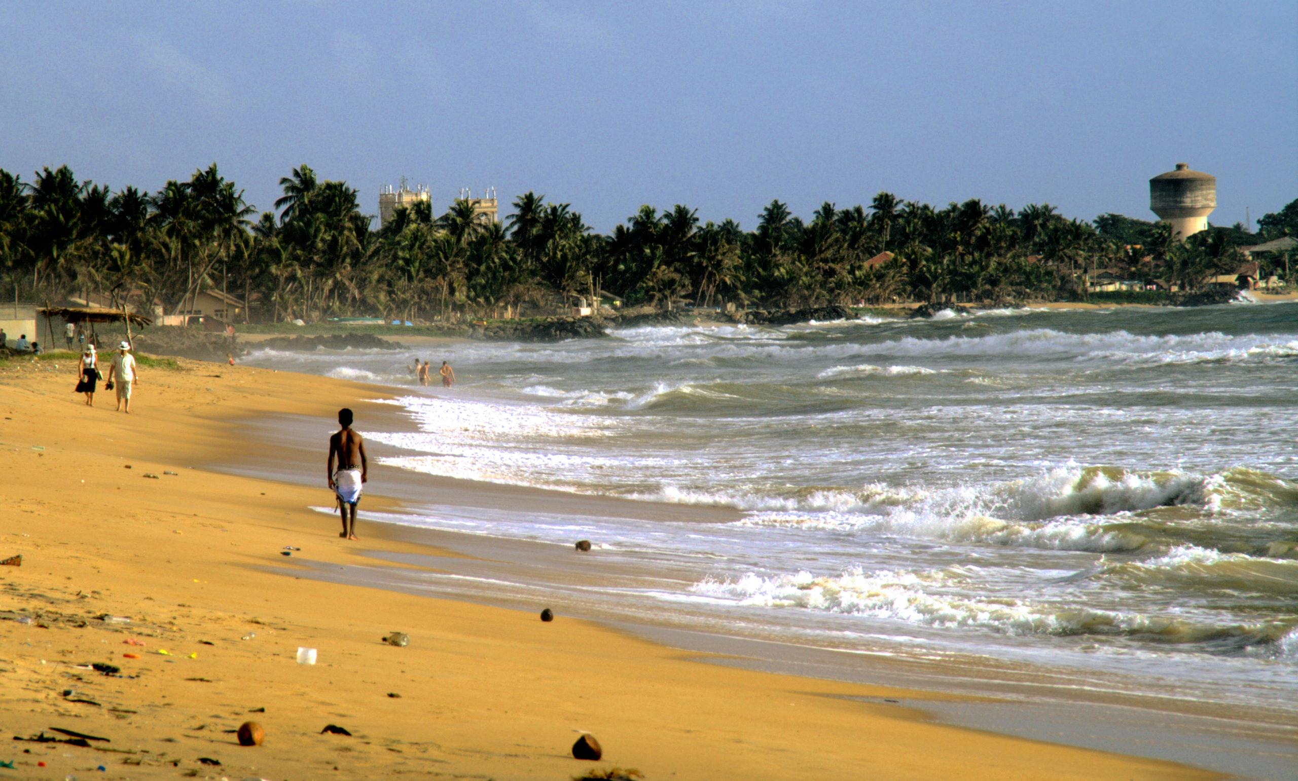 Пляж Негомбо в Шри-Ланке