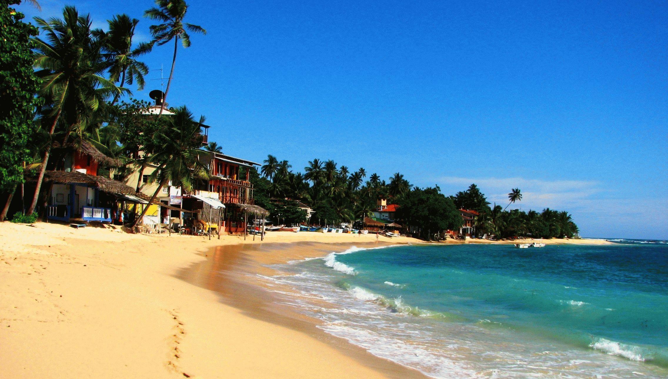 Пляж Унаватуна на Шри-Ланке