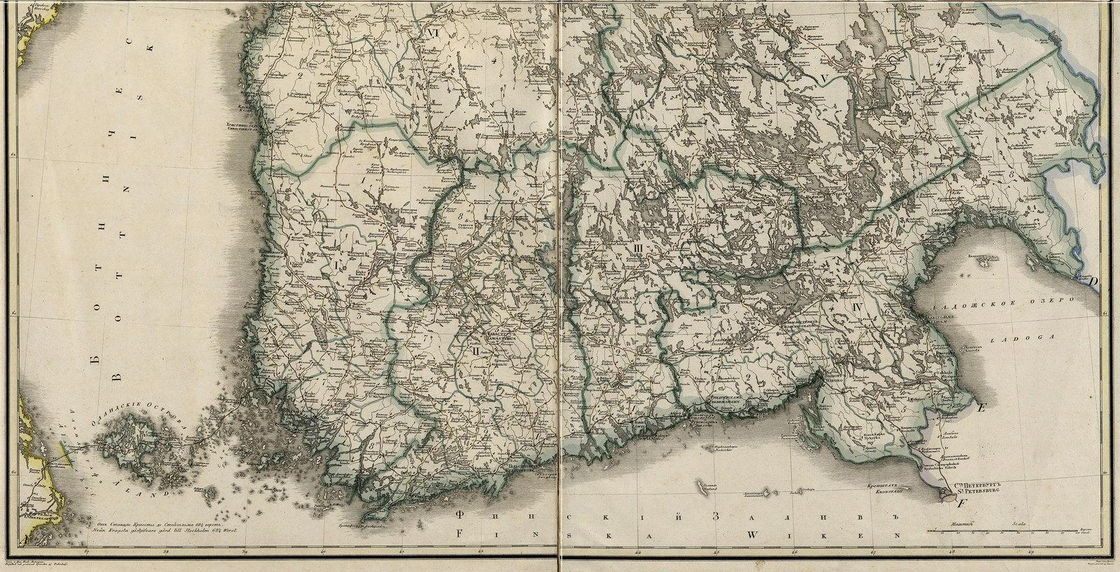 Карта Финляндского княжества