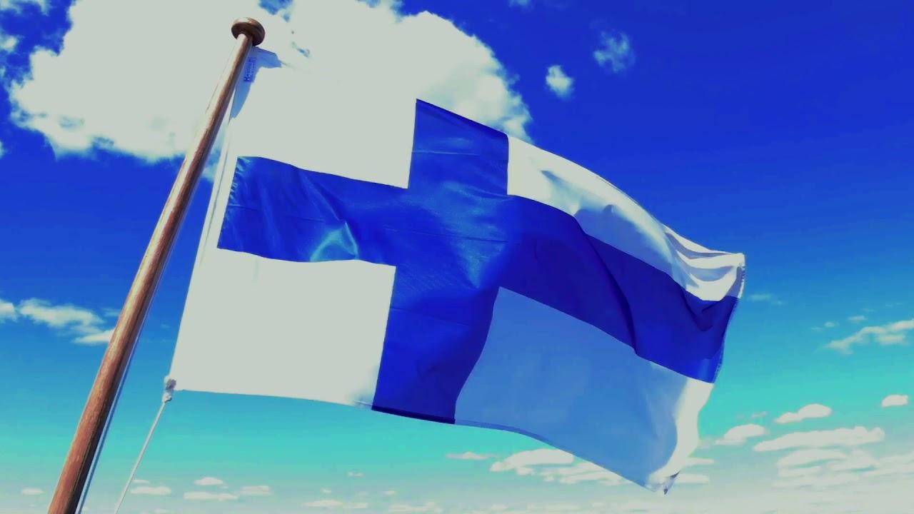 На фото флаг Финляндии