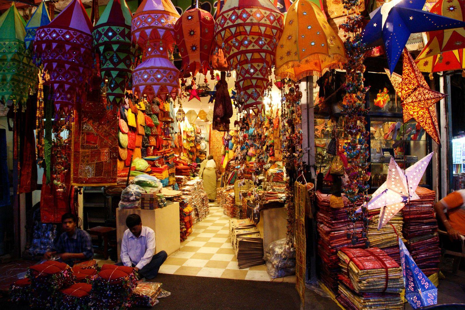 Фото базара в Индии