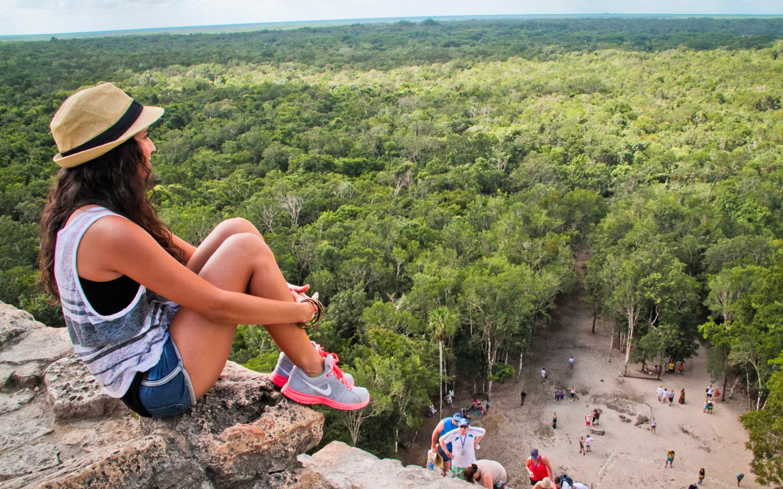Фото туриста в Мексике