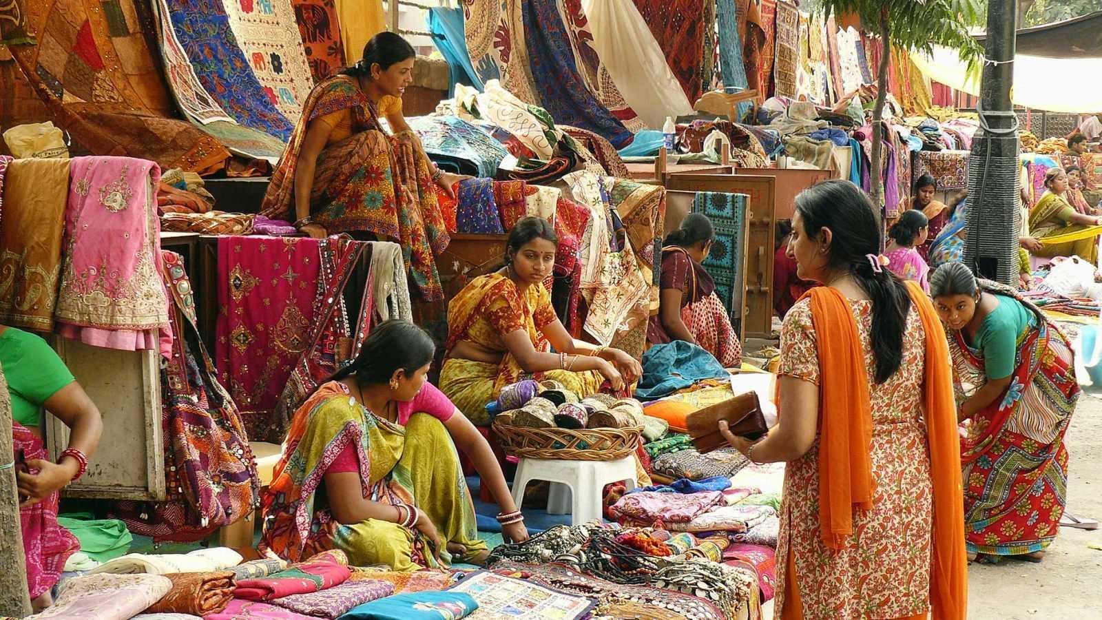 Фото туриста на рынке