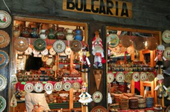 Фото сувенирной лавки в Болгарии