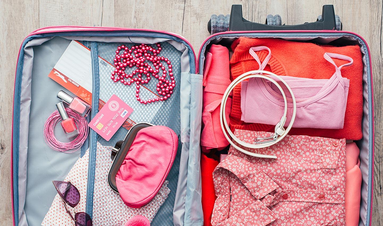 Фото чемодана с вещами