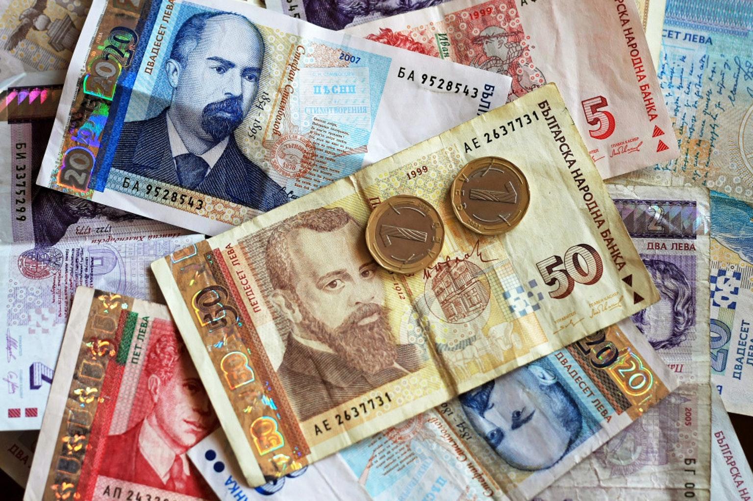 Фото денежной валюты Болгарии