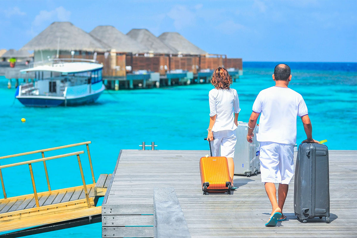 Фото туристов на Мальдивах