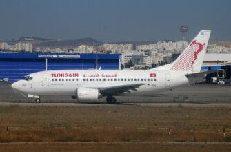 Фото самолета в Тунис